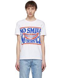 Stella McCartney - White No Smile No Service T-shirt - Lyst