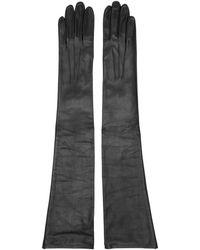 Erdem - Black Leather Midi Gloves - Lyst
