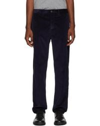 Moncler - Navy Corduroy Trousers - Lyst