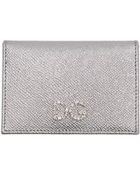 Dolce & Gabbana - Silver Crystal Logo Card Holder - Lyst