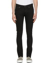 Nudie Jeans - Black Tight Terry Jeans - Lyst