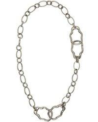 Alexander McQueen   Silver Link Necklace   Lyst