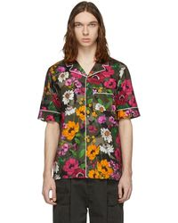Valentino - Green Flower Pyjama Shirt - Lyst