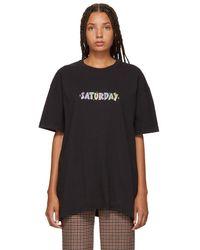 Vetements - Black Saturday Weekday T-shirt - Lyst