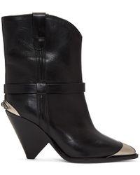 Isabel Marant - Black Lamsy Western Boots - Lyst