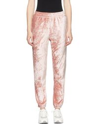 Nike | Pink Velour Essentials Lounge Pants | Lyst