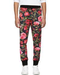 Dolce & Gabbana - Black Rose Sweatpants - Lyst