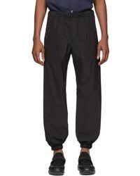 Prada - Pantalon de survetement en popeline noir Techno - Lyst 037e10f8d30