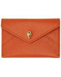 Alexander McQueen - Orange Envelope Card Holder - Lyst