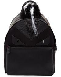 Fendi - Black Snakeskin 'bag Bugs' Backpack - Lyst