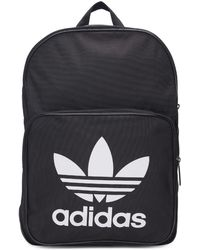 adidas Originals - Black Classic Trefoil Logo Backpack - Lyst