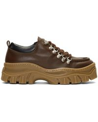 MSGM - Brown Chunky Double Sole Trainers - Lyst