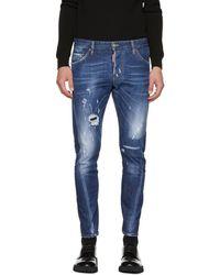 DSquared² - Blue Sexy Twist Jeans - Lyst
