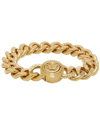Versace - Gold Chunky Chain Medusa Bracelet - Lyst