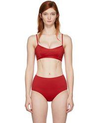 Her Line - Red Suzi Bralette Bikini Top - Lyst