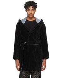 Fendi - Black Bag Bugs Bath Robe - Lyst