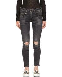 R13 - Black Boy Skinny Jeans - Lyst