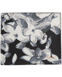Givenchy - Black And White Hydrangea Wallet - Lyst