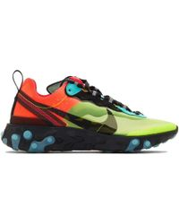 Nike - Green And Blue React Element 87 Sneakers - Lyst