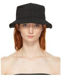 RE/DONE - Black Originals Logo Bucket Hat - Lyst