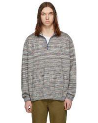 Missoni - Multicolor Striped Half-zip Sweater - Lyst
