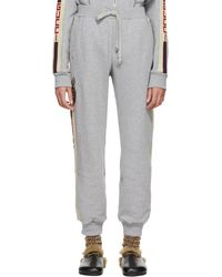 Gucci - Grey Sequinned Cat Track Pants - Lyst