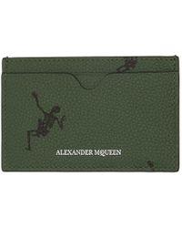 Alexander McQueen - Green Dancing Skeleton Card Holder - Lyst