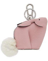 Loewe - Pink Bunny Charm Keychain - Lyst
