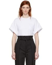 3.1 Phillip Lim - White Oversized Tie T-shirt - Lyst