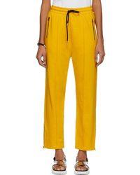 McQ - Pantalon de survetement jaune Racer - Lyst