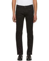 Dolce & Gabbana - Black Heavy Distressed Skinny Jeans - Lyst