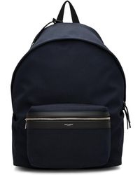 Saint Laurent - Navy Canvas City Backpack - Lyst