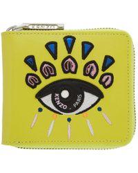 KENZO - Yellow Square Eye Wallet - Lyst