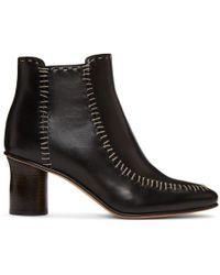 JW Anderson - Black Stitch Boots - Lyst