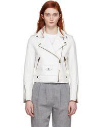 Mackage - White Baya Moto Jacket - Lyst
