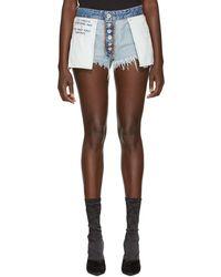 Unravel - Reversible Cotton Denim Shorts - Lyst