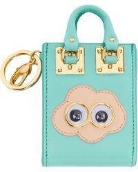 Sophie Hulme - Ssense Exclusive Blue Cloud Albion Tote Keychain - Lyst