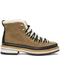 Rag & Bone - Brown Suede And Shearling Compass Boots - Lyst