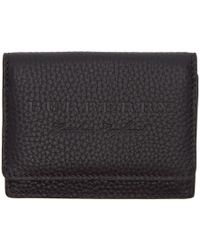 Burberry - Black Soft Leather Wallet - Lyst