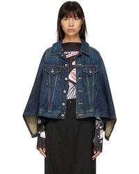 Junya Watanabe - Indigo Denim Cape Effect Jacket - Lyst