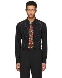 Comme des Garçons - Black Embroidered Swirl Shirt - Lyst