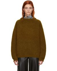 Acne Studios - Brown Wool Dramatic Sweater - Lyst