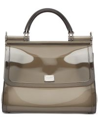 5417a8552d Dolce   Gabbana - Grey Small Rubber Miss Sicily Bag - Lyst