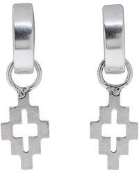 Marcelo Burlon Silver Cross Earrings - Metallic