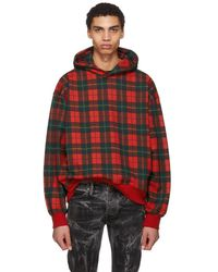 Fear Of God - Red Plaid Everyday Hoodie - Lyst
