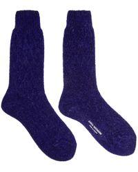 Junya Watanabe - Blue Sparkle Socks - Lyst