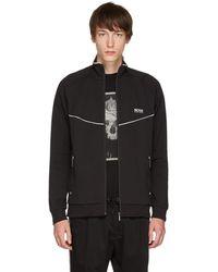 BOSS - Black Tracksuit Jacket - Lyst