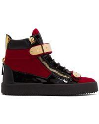 Giuseppe Zanotti - Red Velvet May London High-top Sneakers - Lyst
