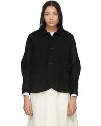 Renli Su - Black A-line Jacket - Lyst