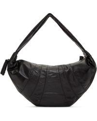 Lemaire - Black Leather Large Bum Bag - Lyst